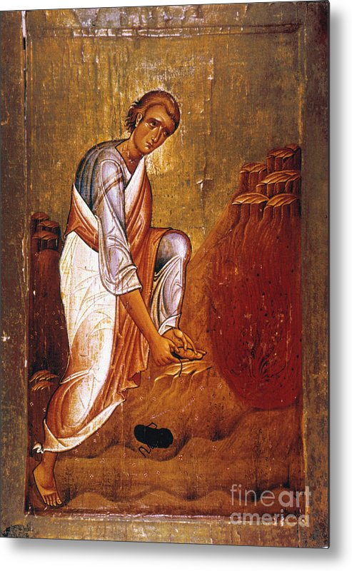 12th Century Metal Print featuring the photograph Moses Before Burning Bush by Granger