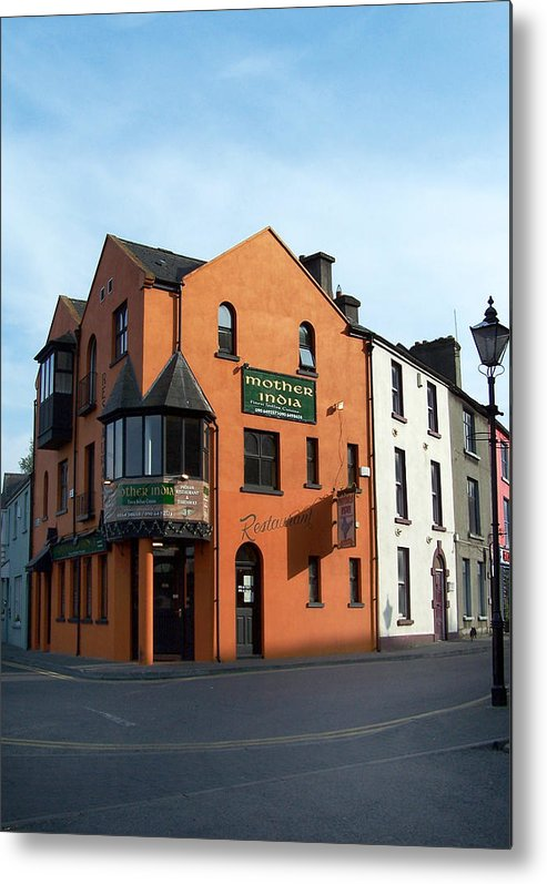 Ireland Metal Print featuring the photograph Mother India Restaurant Athlone Ireland by Teresa Mucha