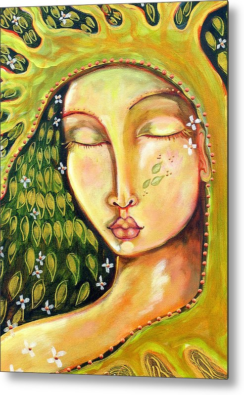 Tree Of Life Metal Print featuring the painting New Life by Shiloh Sophia McCloud