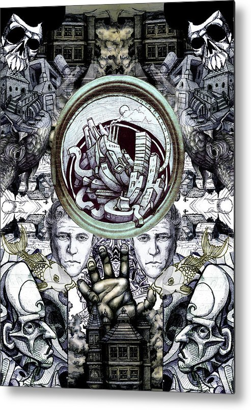 Heath Ledger Metal Print featuring the drawing Obsessive Compulsion by John Baker