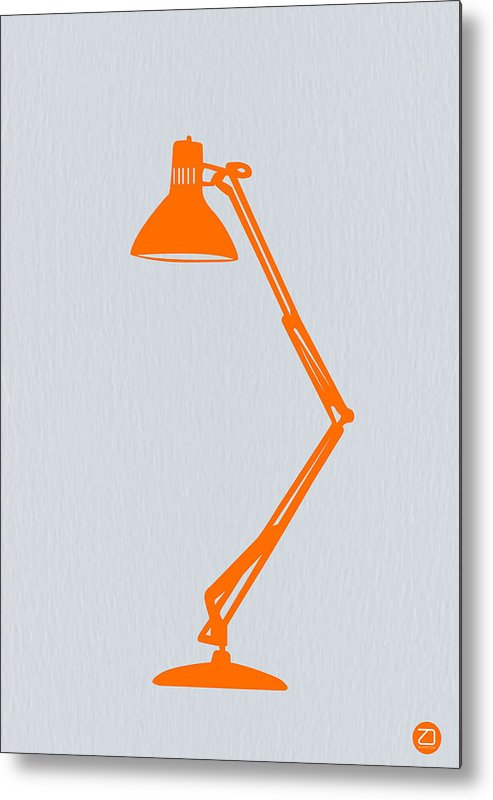 Lamp Metal Print featuring the photograph Orange Lamp by Naxart Studio