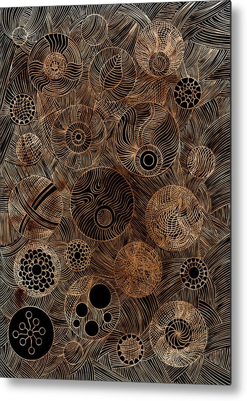 Frank Tschakert Metal Print featuring the painting Organic Forms by Frank Tschakert