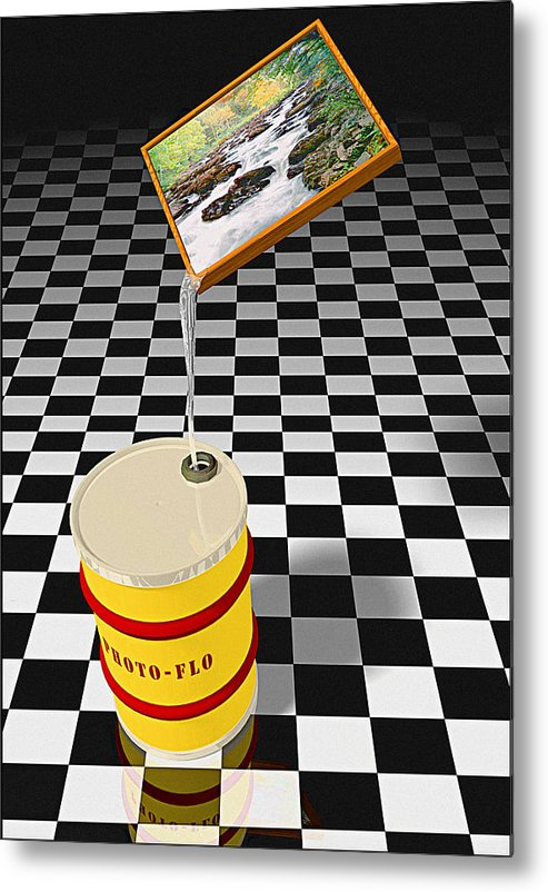 Digital Metal Print featuring the photograph Photoflo by Peter J Sucy