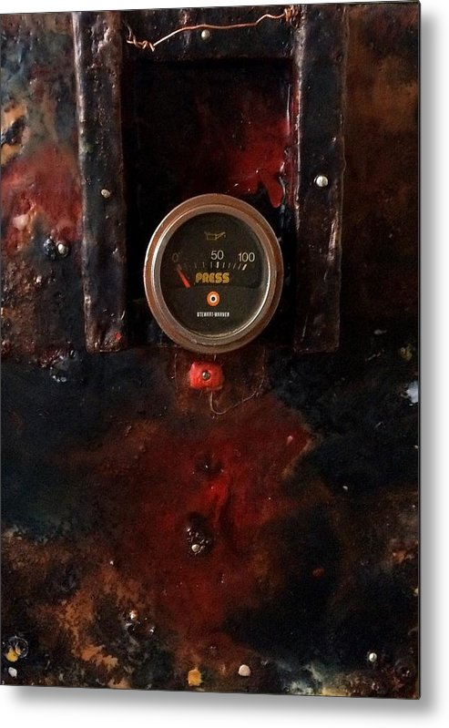 Animal Metal Print featuring the painting Pressure Box Four by Greg Hester