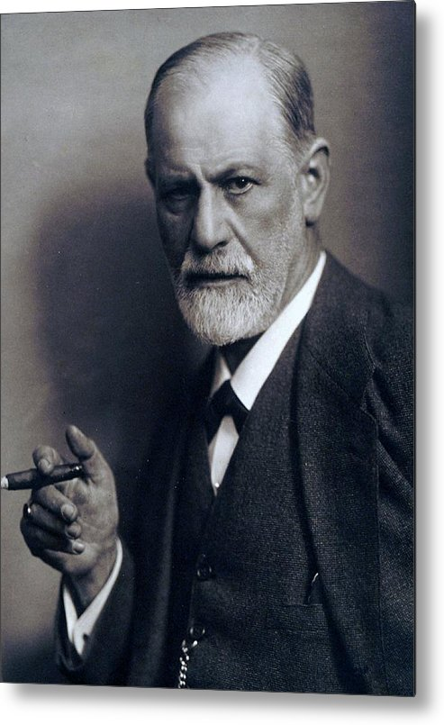 History Metal Print featuring the photograph Sigmund Freud 1856-1939 Smoking Cigar by Everett