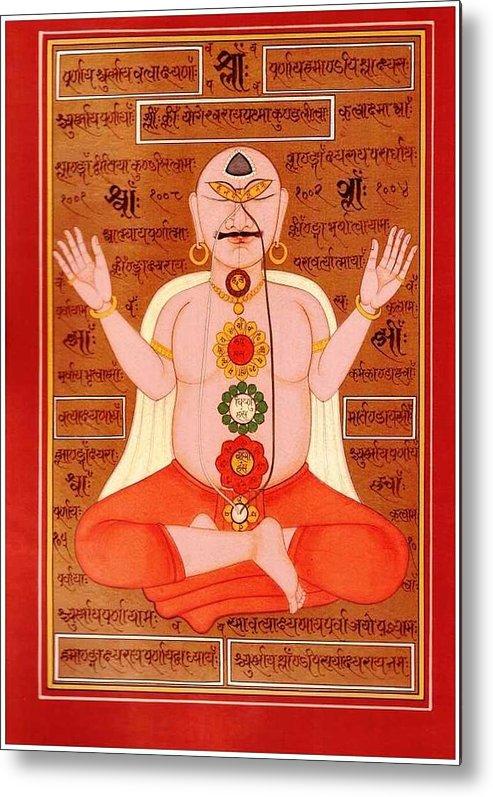 Tantra Chakra Mantras Metal Print