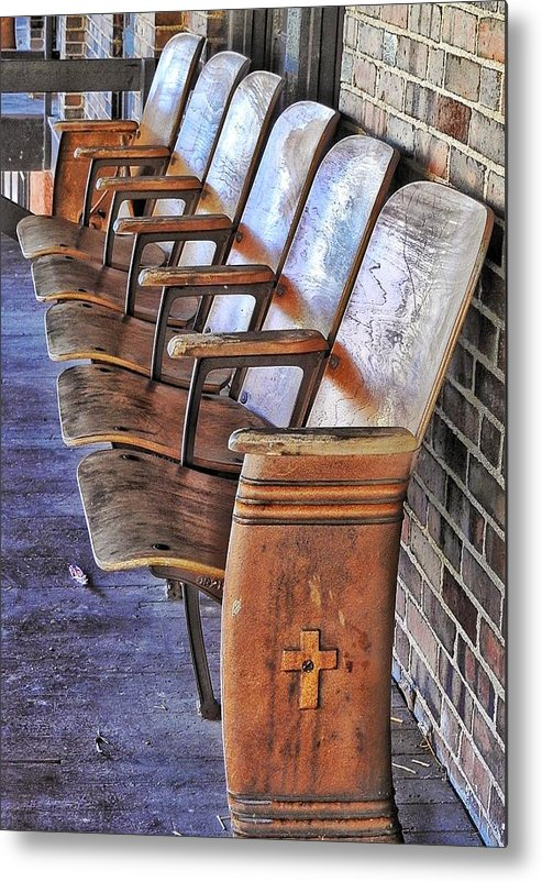 Metal Print featuring the photograph Theatre Seating by Renee Longo