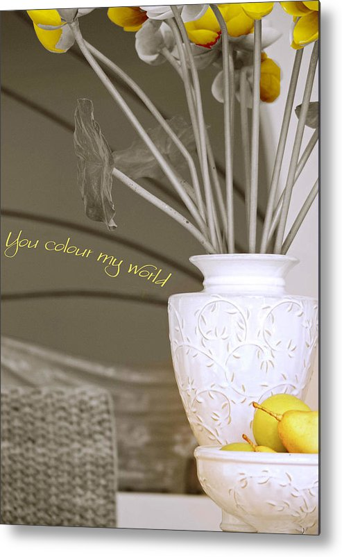Still Life Metal Print featuring the photograph You Color My World by Holly Kempe