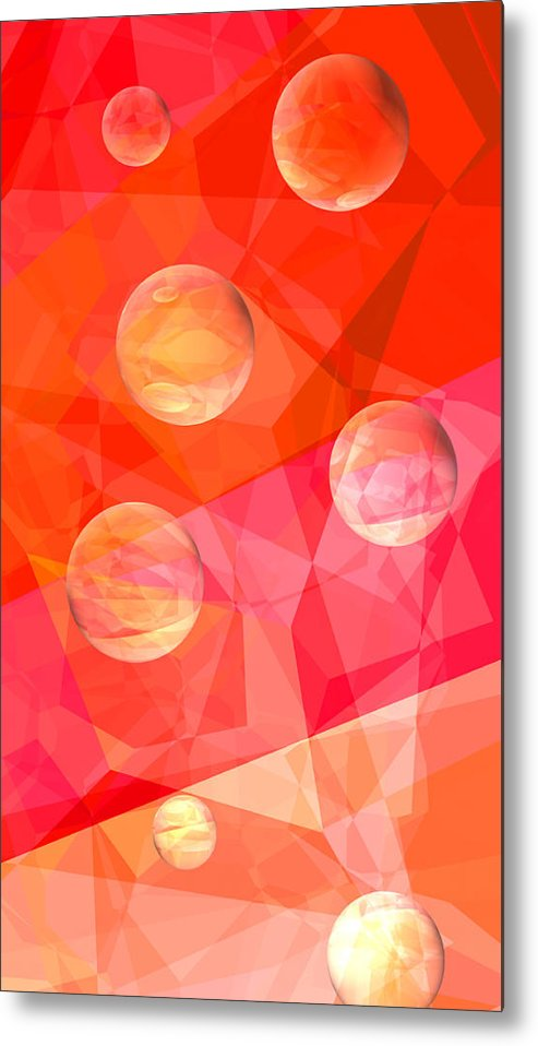Abstract Metal Print featuring the digital art Dream A Little Dream by Wendy J St Christopher