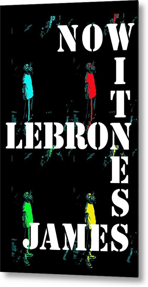 Lebron James King Cleveland Cavaliers Akron Ohio Basketball Heat Miami Sports Lakers Losangeles California Staples Center Metal Print featuring the photograph Now Witness Lebron James by J Anthony