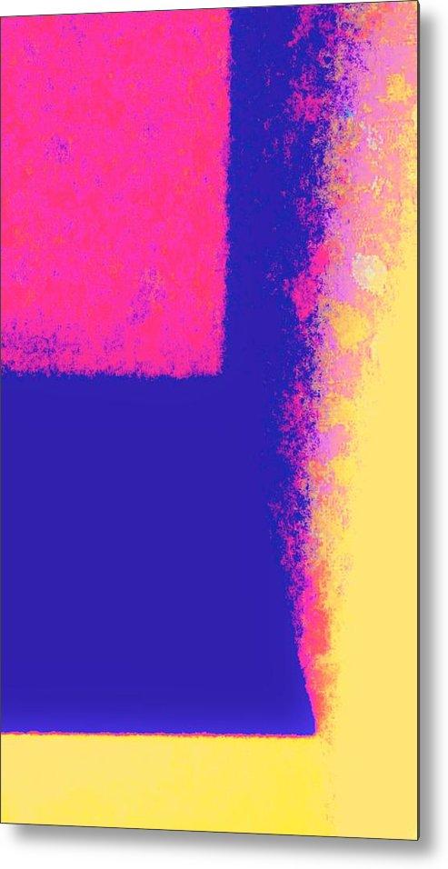 Dimensional Depth Of Squares Metal Print featuring the photograph Dimensional Depth Of Squares by Peggy Leyva Conley