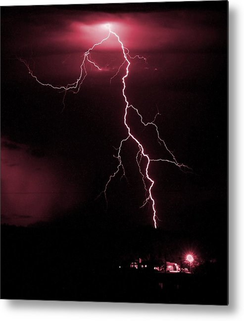 Thunder Metal Print featuring the photograph Fire In The Sky by HW Kateley