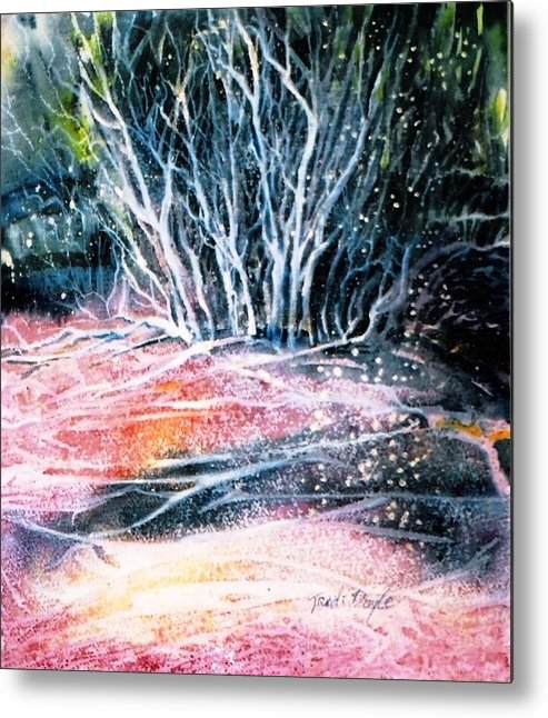 Winter Metal Print featuring the painting Winter Habitat No.1 by Trudi Doyle