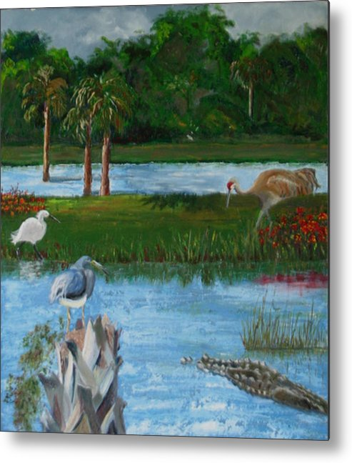 Marsh Metal Print featuring the painting Dream Scene by Libby Cagle
