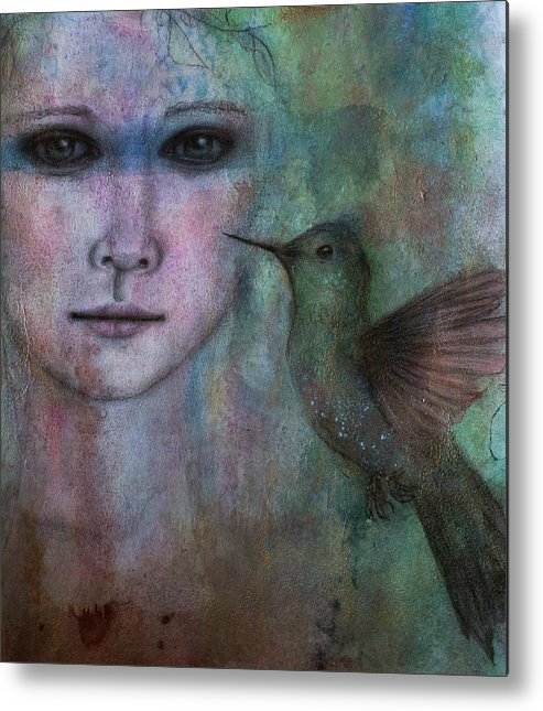 Girl Metal Print featuring the painting A Spirit Of Youth by Christine Howe