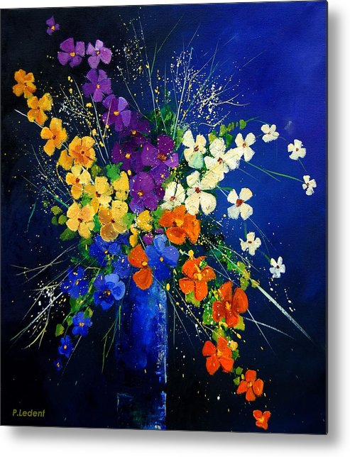 Poppies Metal Print featuring the print Bunch 0408 by Pol Ledent