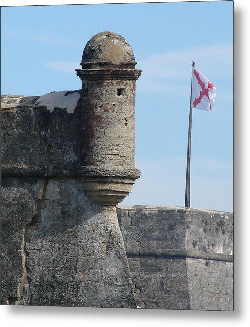 St Augustine Florida Metal Print featuring the photograph Castillo De San Marcos by Christie Moore
