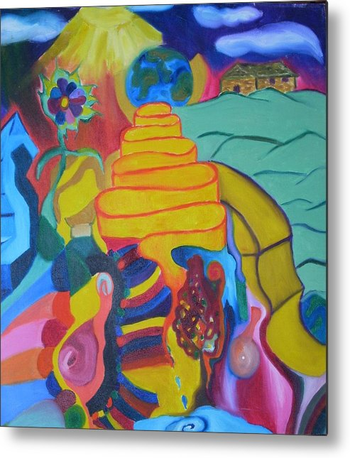 Metal Print featuring the painting First Or Second by Joseph Arico