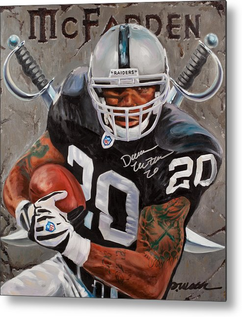 Darren Mcfadden Metal Print featuring the painting Franchise by Jim Wetherington