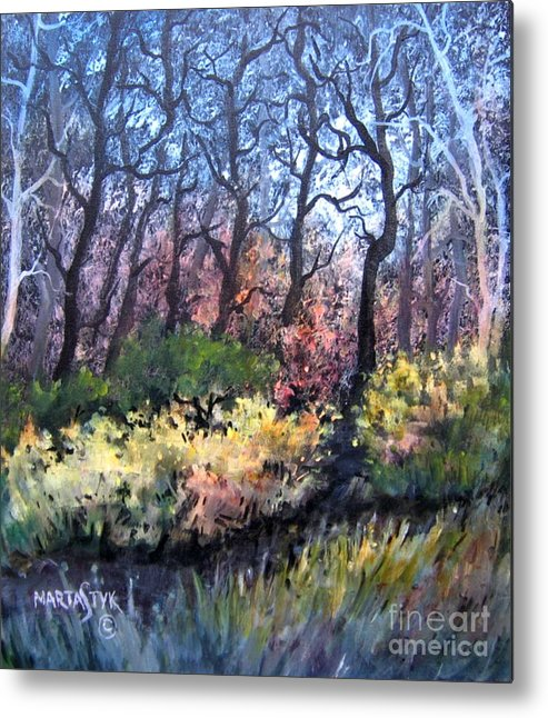 Landscape Metal Print featuring the painting Harmony 2 by Marta Styk