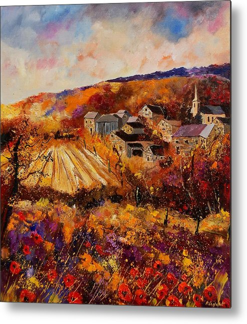 Poppies Metal Print featuring the painting Maissin by Pol Ledent
