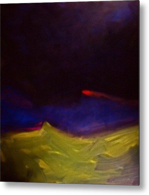 Abstract Painting Abstract Paintingsabstract Paintings Multi Colour Paintings Multi Colour Canvas Prints Abstract Canvas Prints Abstract Greeting Cards Paintings Paintings Metal Print featuring the painting Meteorite by Chris Riley