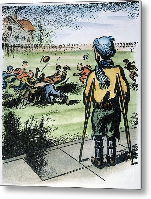 1957 Metal Print featuring the photograph Polio Cartoon, 1957 by Granger