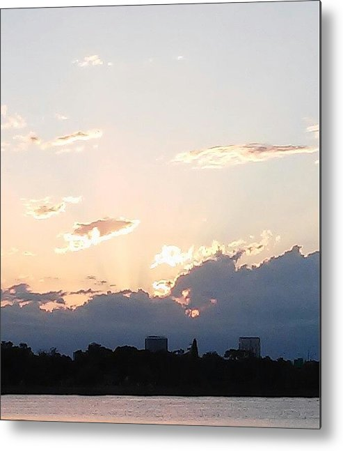 Metal Print featuring the photograph Sunset At The Lake3 by John Hiatt