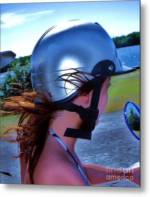Scooter Metal Print featuring the photograph Wind In The Hair by Vesna Antic