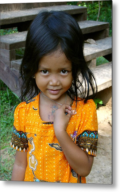 Metal Print featuring the photograph Cambodian Innocence by Jennifer Fordham