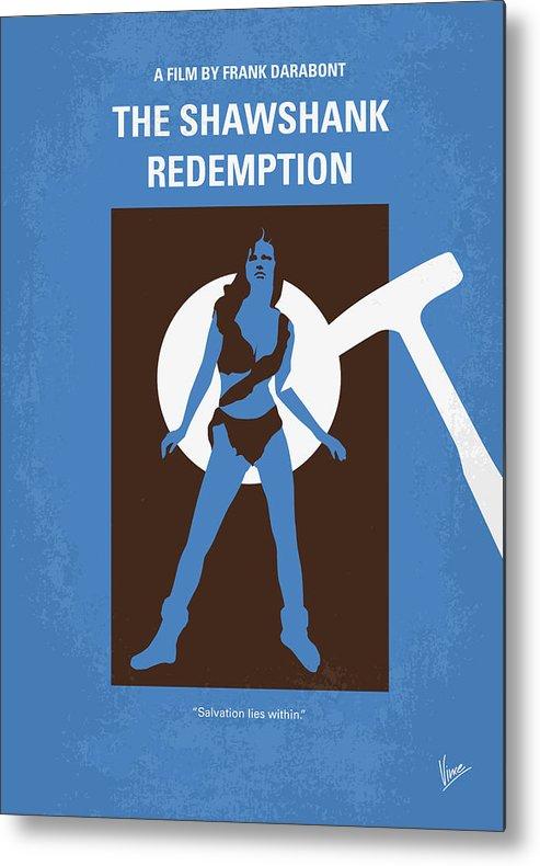 Shawshank Metal Print featuring the digital art No246 My The Shawshank Redemption Minimal Movie Poster by Chungkong Art
