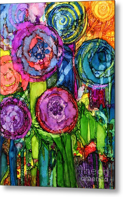 Abstract Metal Print featuring the painting Number Vi by Vicki Baun Barry