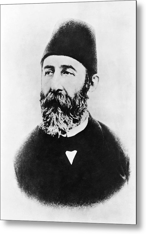1915 Metal Print featuring the photograph Portrait Of Djemal Pasha by Underwood Archives