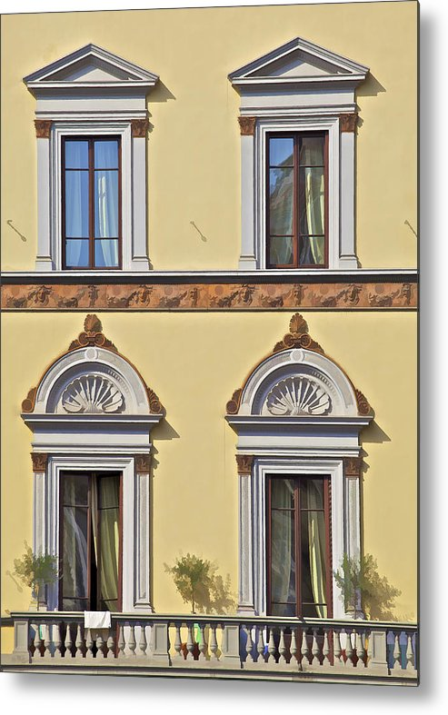 Archway Metal Print featuring the photograph Windows Of Tuscany by David Letts