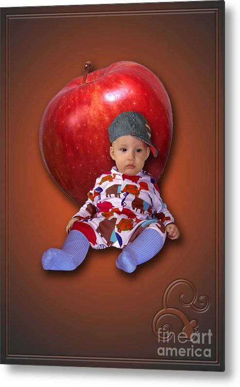 Child Metal Print featuring the digital art An Image Of A Photograph Of Your Child. - 04 by Marek Lutek