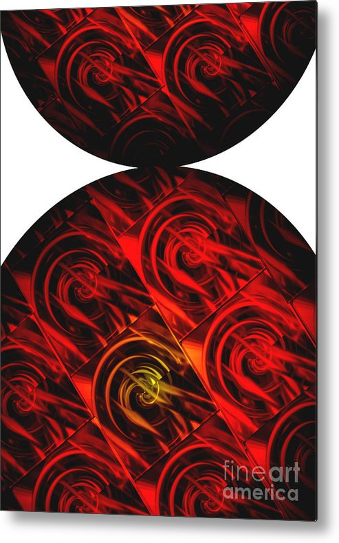 Abstract Metal Print featuring the digital art Balance by Ann Powell