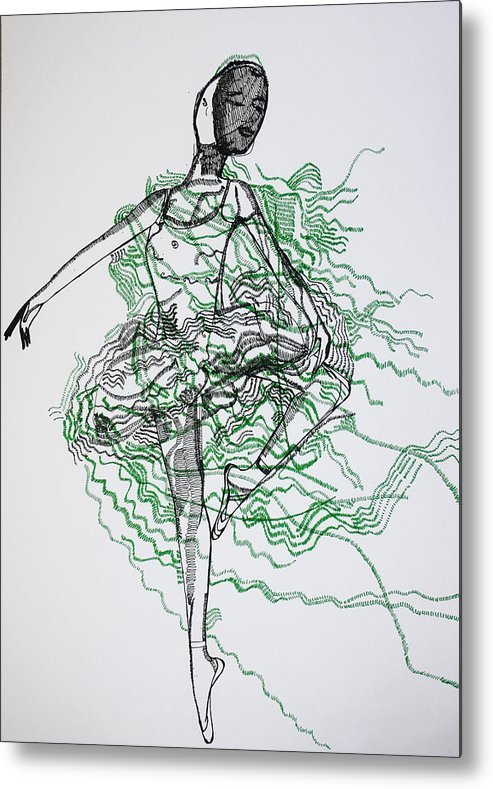 Jesus Metal Print featuring the drawing Ballet by Gloria Ssali