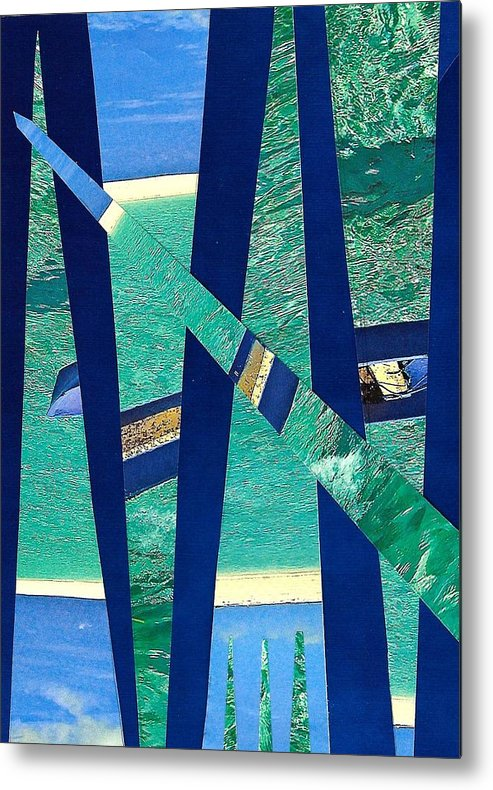 Mixed Media Metal Print featuring the mixed media Blue Waters by Barbara Bennett