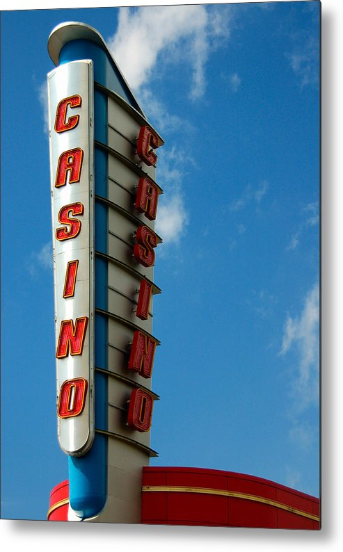 Casino Metal Print featuring the photograph Casino Sign by Norman Pogson