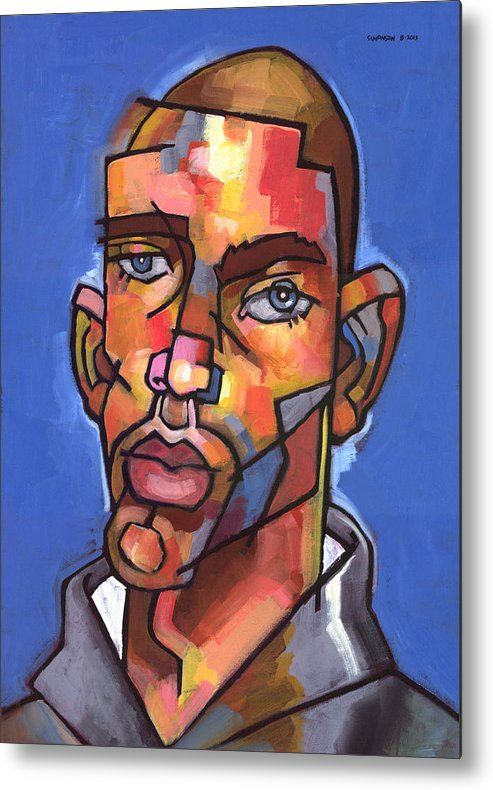 Portrait Metal Print featuring the painting Channing by Douglas Simonson