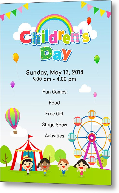 Children Day Drawing Poster