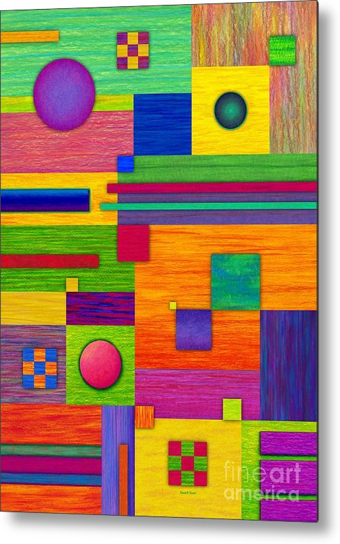 Colored Pencil Metal Print featuring the painting Combination 2 by David K Small