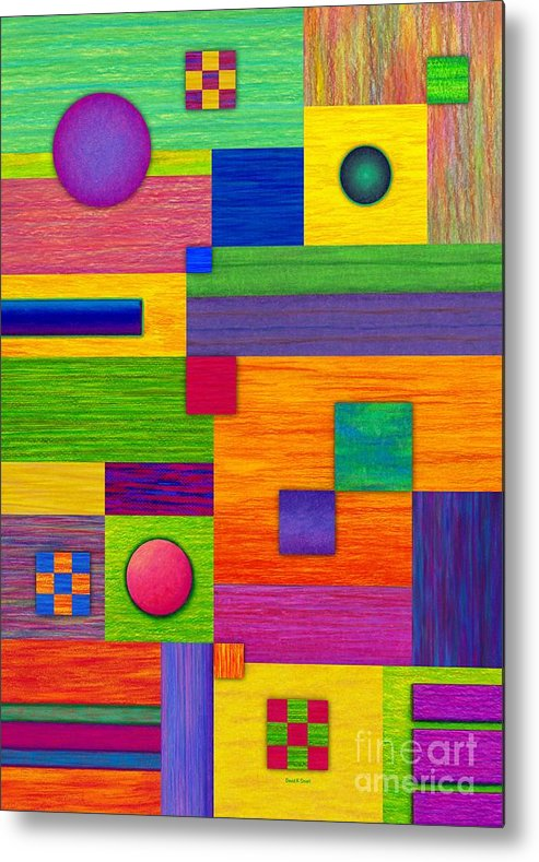 Colored Pencil Metal Print featuring the painting Combination by David K Small