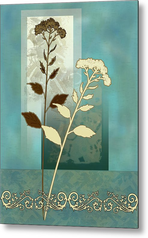 Painting By Gina Femrite Metal Print featuring the painting contemporary art Desert Grass by Regina Femrite