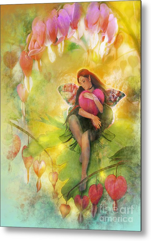 Fairy Metal Print featuring the digital art Cradle Your Heart by Aimee Stewart