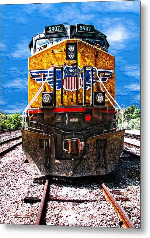 Train Metal Print featuring the photograph Day Train by Wendy J St Christopher