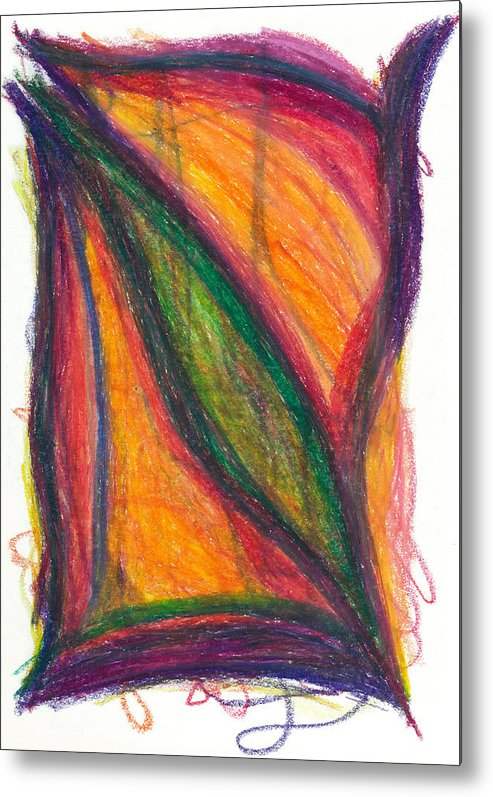 Oil Metal Print featuring the drawing Divine Love by Daina White