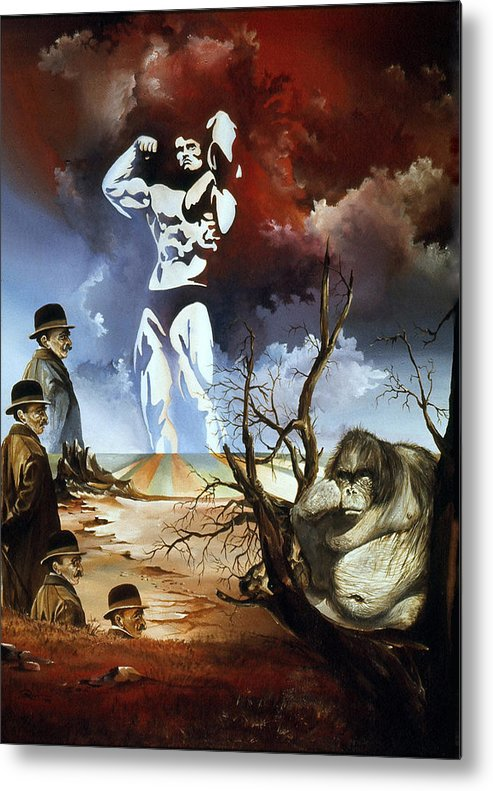 Surrealism Metal Print featuring the painting Evolution by Otto Rapp
