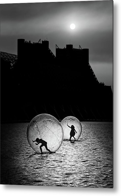 Ball Metal Print featuring the photograph Games In A Bubble by Juan Luis Duran
