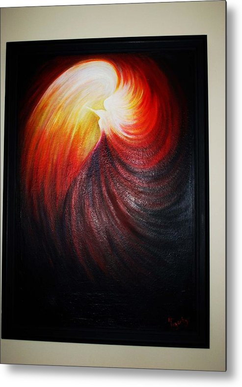 Abstract Metal Print featuring the painting In The Light by Ann Fogarty